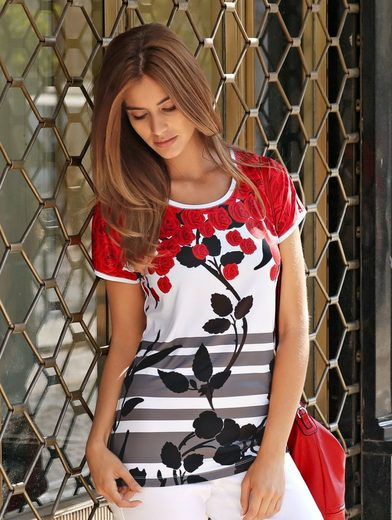 Laura Kent Shirt With Fashionable Rose Print