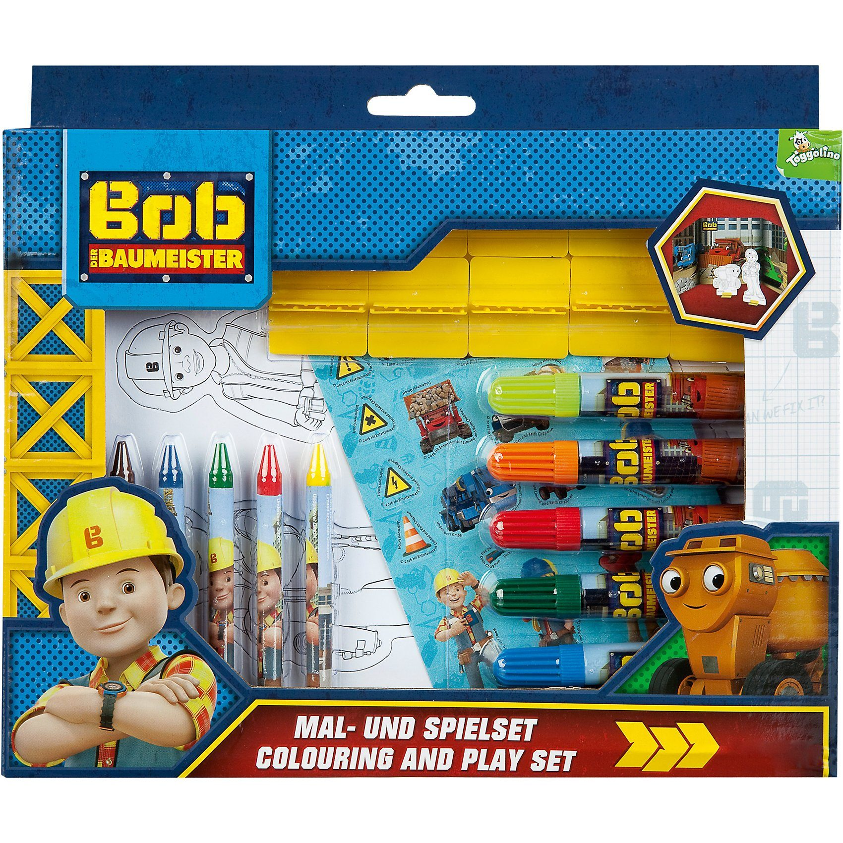 UNDERCOVER Mal- und Spielset Bob der Baumeister