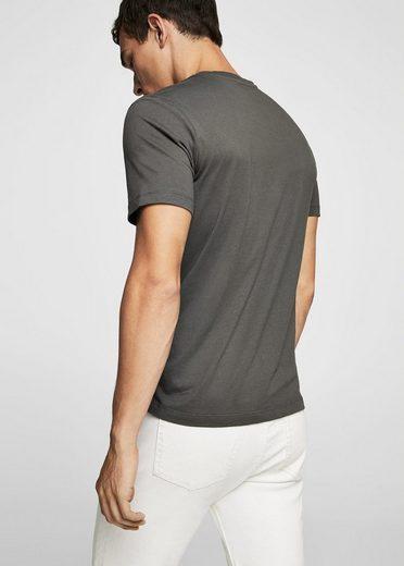 MANGO MAN T-Shirt mit Ärmelumschlag