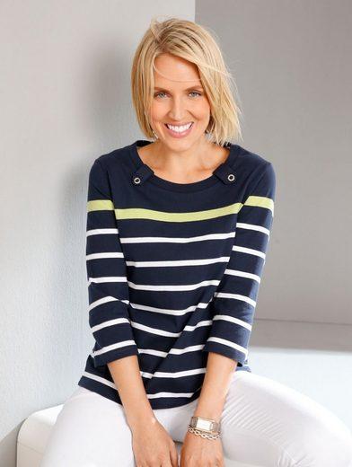 Paola Shirt in schönem Streifendessin