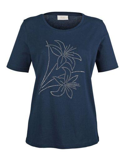 Paola Shirt mit floraler Strassapplikation