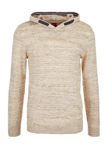 S.oliver Red Label Slub Yarn-pullover Mit Print-detail