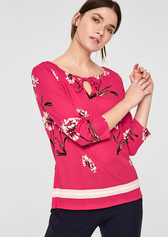 s.Oliver BLACK LABEL Tunika-Shirt mit floralem Muster | Bekleidung > Tuniken > Sonstige Tuniken | s.Oliver BLACK LABEL