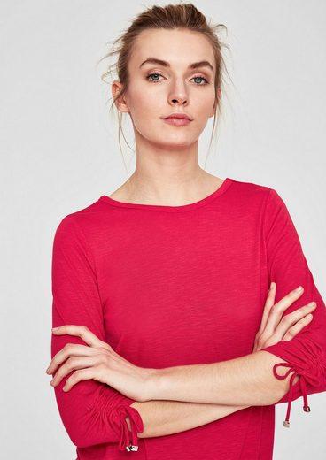 s.Oliver RED LABEL Shirt mit Rückenausschnitt