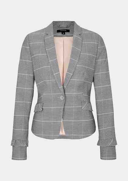COMMA Businessblazer im Glencheck-Look