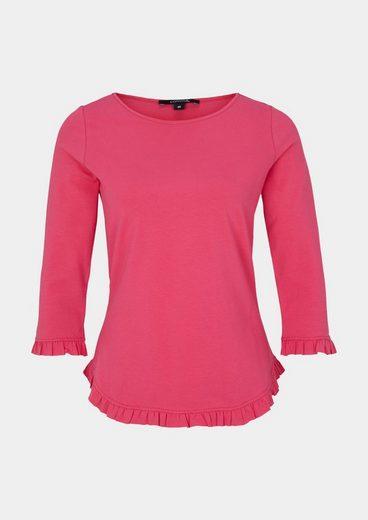COMMA 3/4-Arm Jerseyshirt mit Rüschenverzierungen
