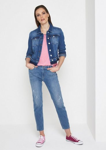 COMMA Kurze Jeansjacke im Used-Look