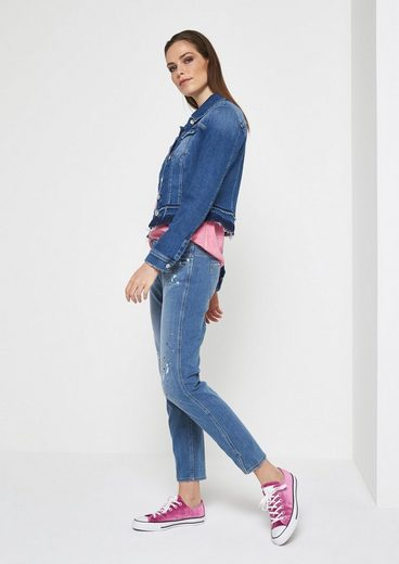 COMMA Weiche Jeans im Used-Look