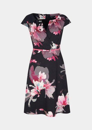 COMMA Abendkleid mit dekorativem Floralmuster