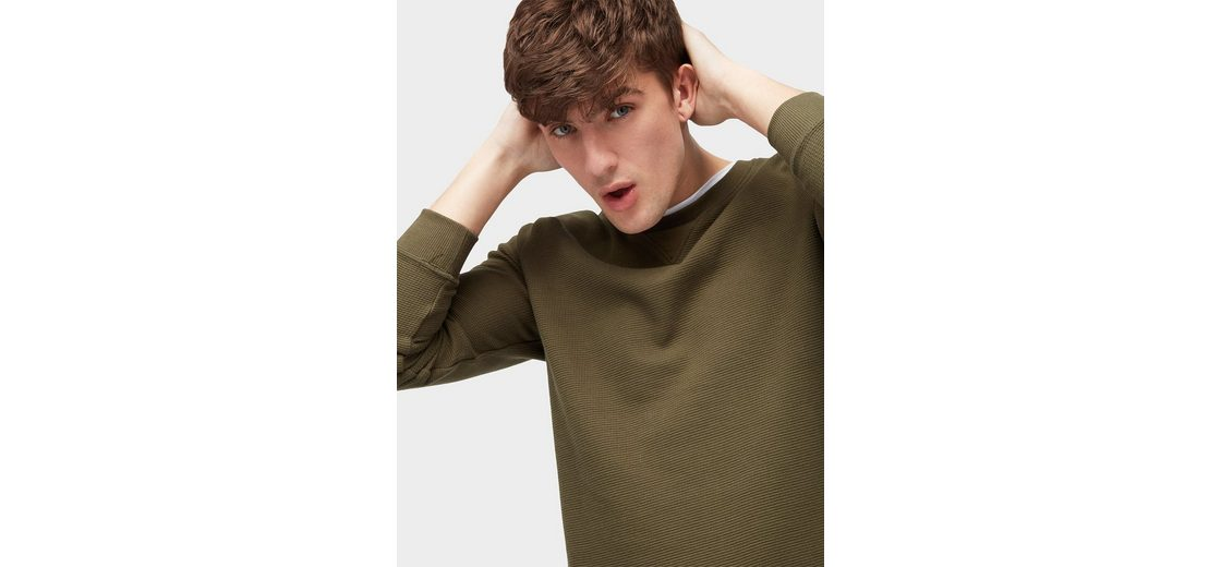 Tom Tailor Denim Sweatshirt Pullover mit Struktur Günstig Kaufen Visum Zahlung Spielraum Komfortabel Spielraum Günstig Online Verkauf Großer Verkauf hFplYYN4Yf