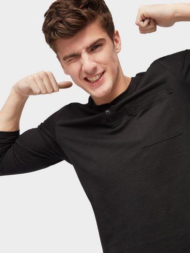 Tom Tailor Denim Langarmshirt Langarmshirt With Breast Pocket