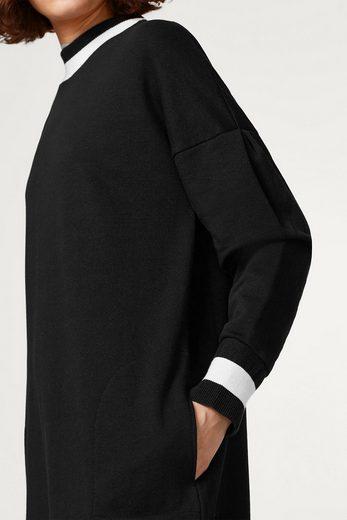 EDC BY ESPRIT Eggshape-Sweatkleid aus 100% Baumwolle