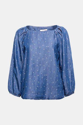 ESPRIT Lyocell-Bluse mit Anker-Print