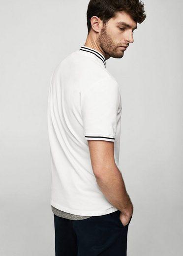 MANGO MAN Pikee-Poloshirt, Kontrastränder