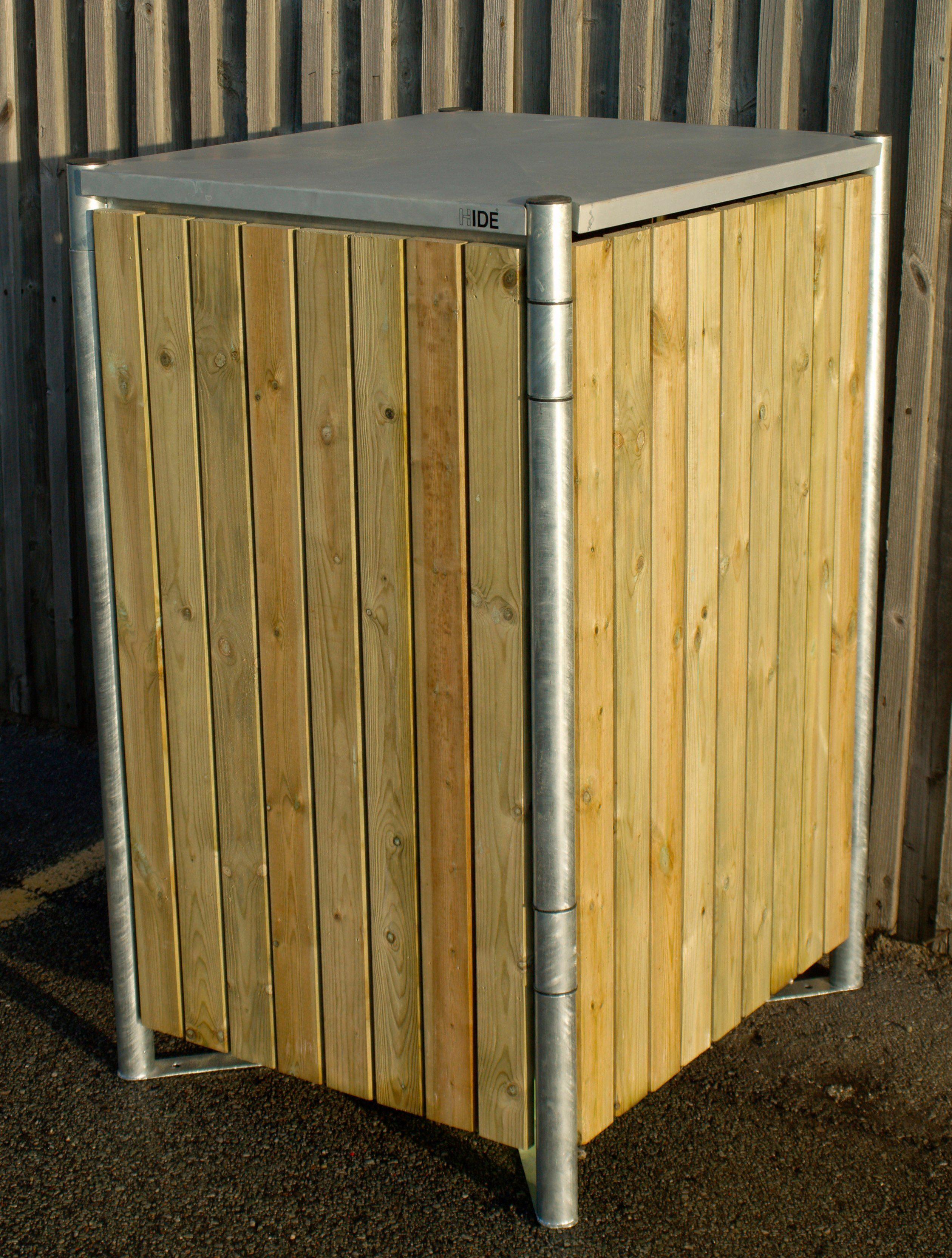 Mülltonnenbox , für 1 x 120 l, natur