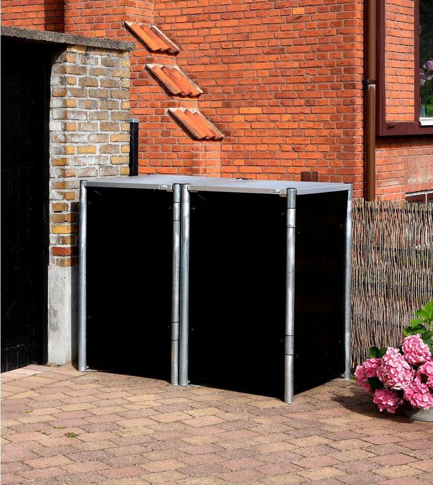 mülltonnenbox , für 2 x 240 l, schwarz kaufen | otto