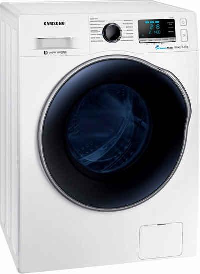 Samsung Waschtrockner WD91J6A00AW/EG, 9 Kg/6 Kg, 1400 U/Min