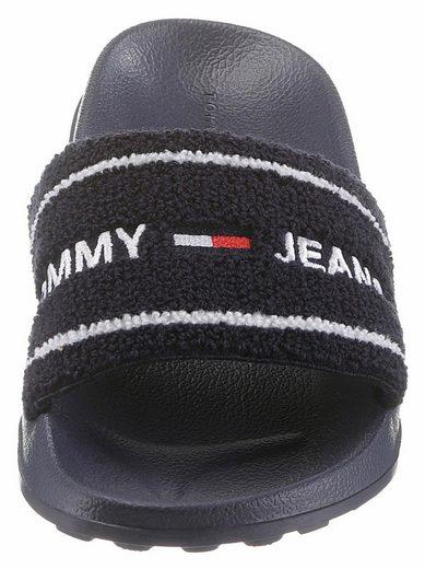»mae Tommy 8d« Mit Jeans Logoschriftzug Pantolette Cxf65w