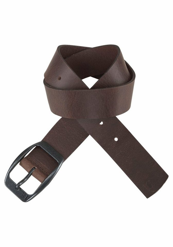 Herren G-Star RAW Ledergürtel mit Logo auf der Schließe braun | 08718597271025