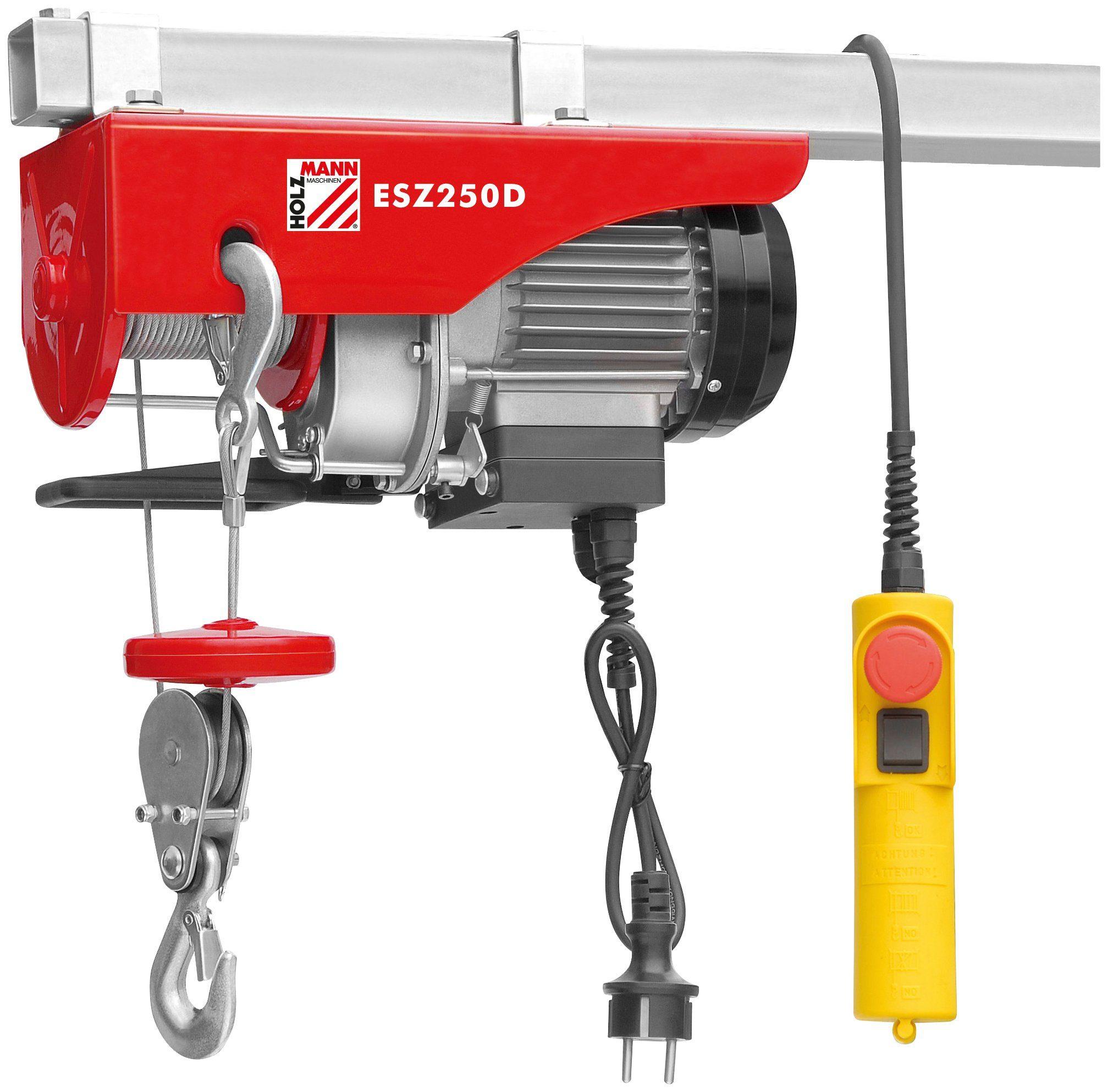 HOLZMANN-MASCHINEN Elektrischer Seilzug »ESZ250D«, 250 kg