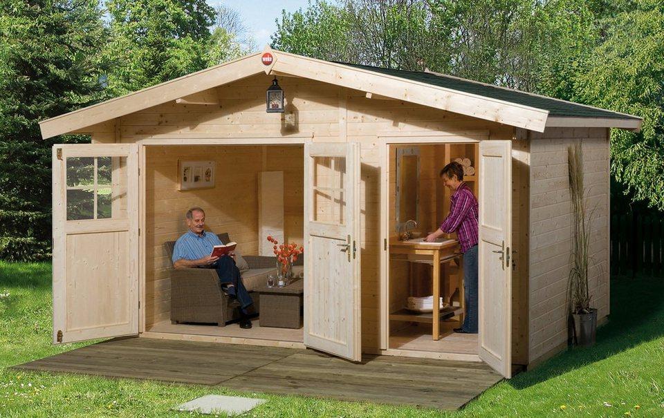 weka gartenhaus 261 gr 2 bxt 460x380 cm 2 r ume inkl fu boden online kaufen otto. Black Bedroom Furniture Sets. Home Design Ideas