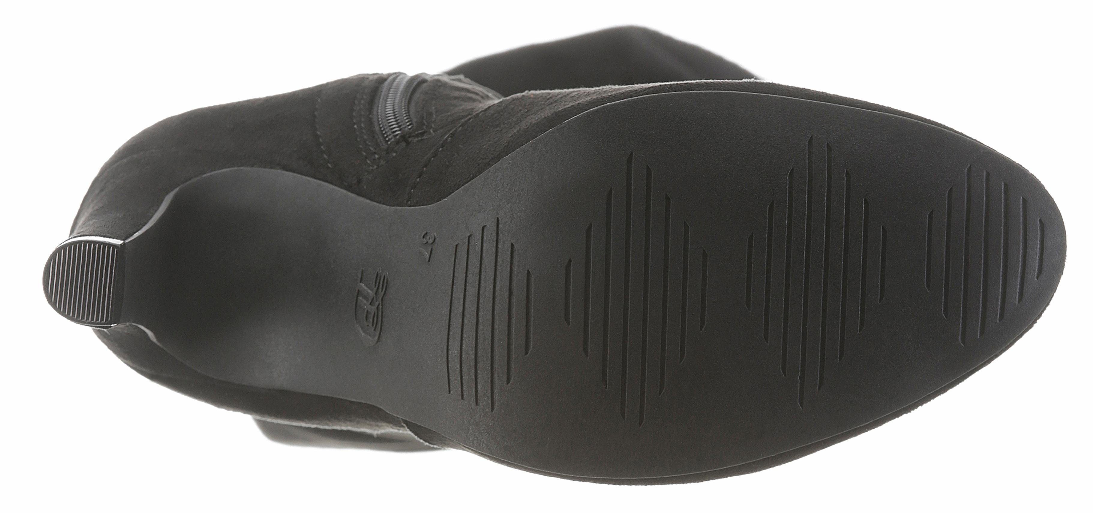 Tom Tailor Overkneestiefel, in edler Optik kaufen  schwarz