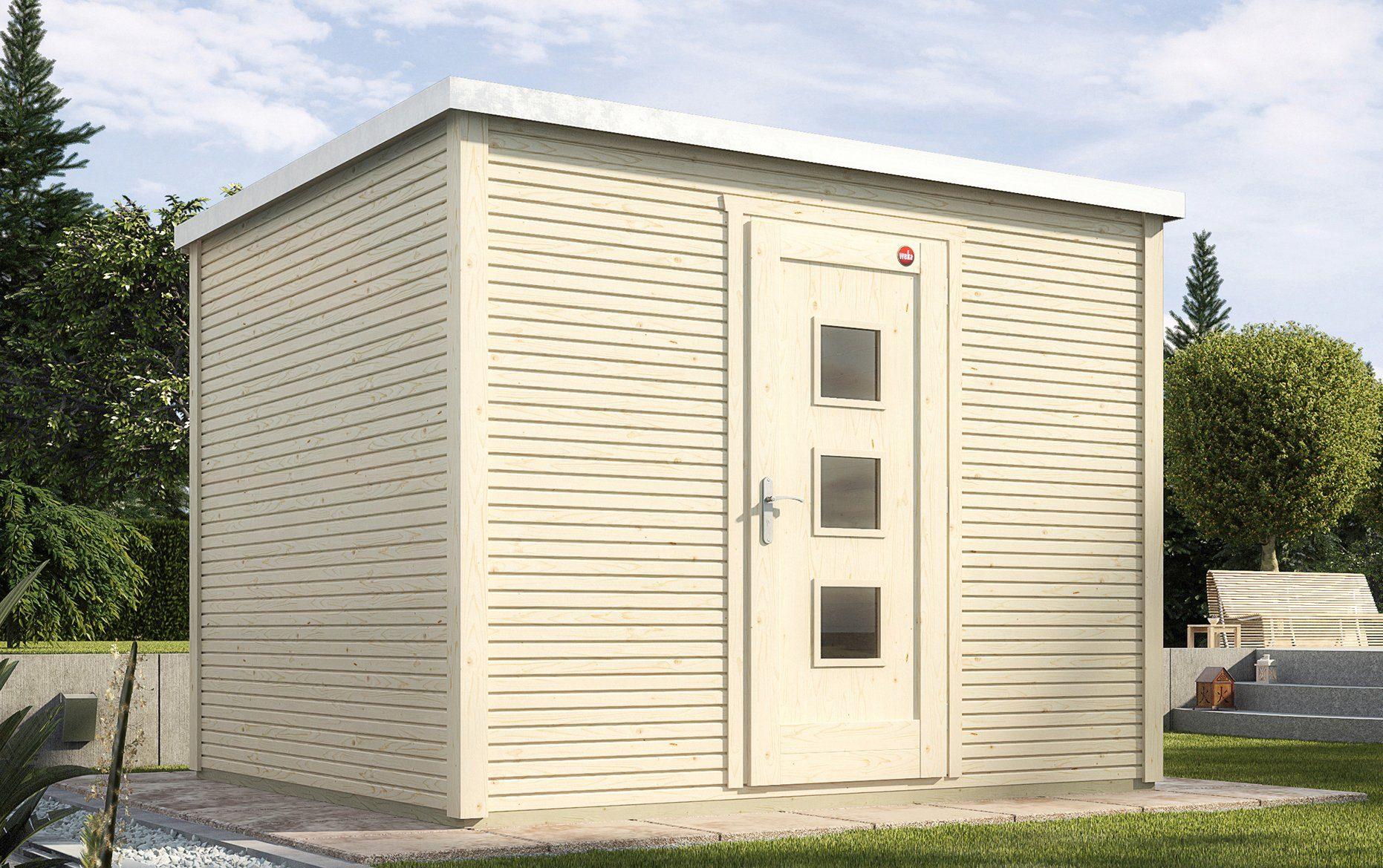 WEKA Gartenhaus »wekaLine 413 Gr.2«, BxT: 310x310 cm, inkl. Fußboden und Dachbahn