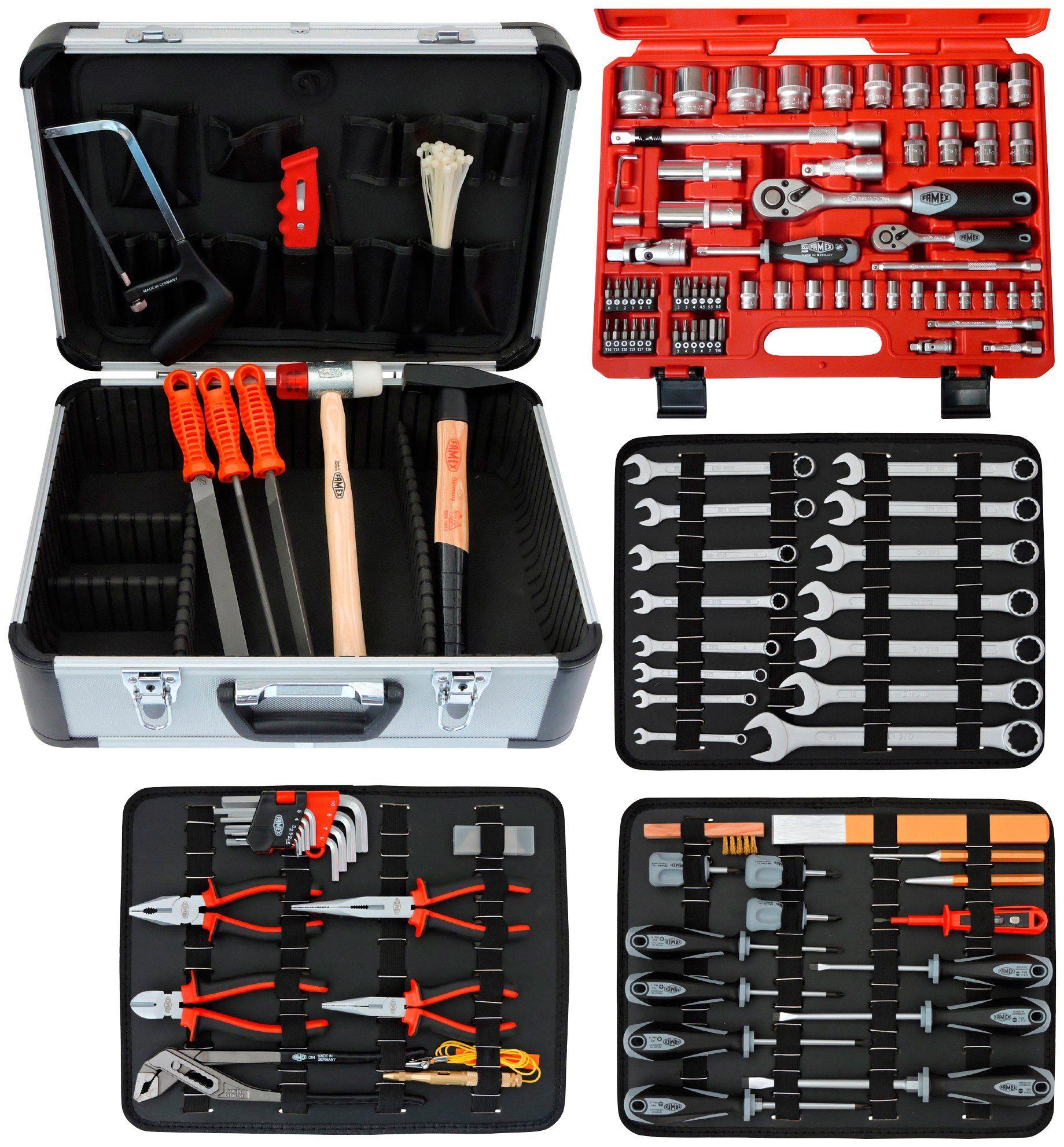 FAMEX Werkzeugkoffer »720-24«, 121-/ insgesamt 128-tlg.