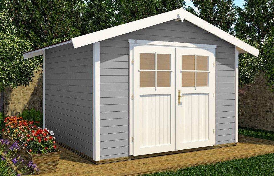 weka gartenhaus 122 bxt 380x320 cm inkl fu boden online kaufen otto. Black Bedroom Furniture Sets. Home Design Ideas