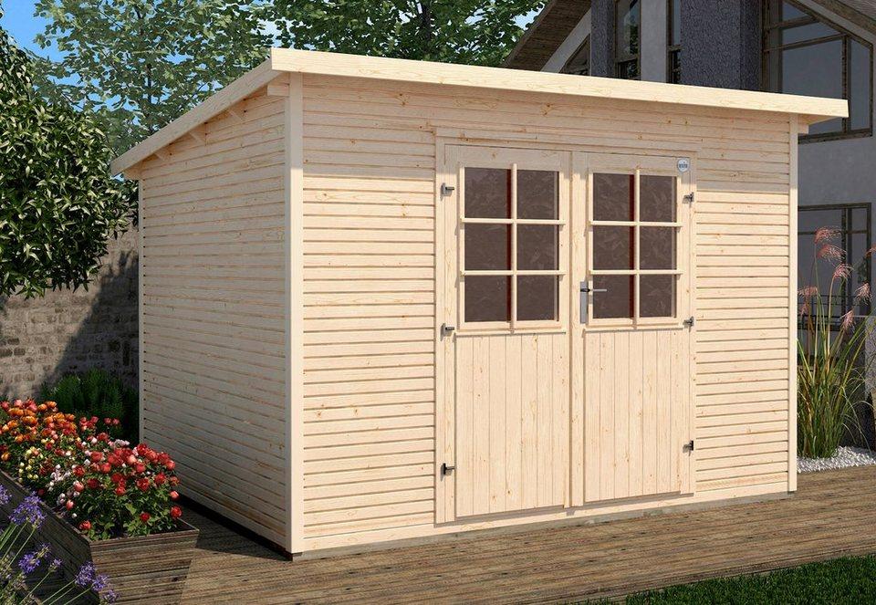 weka gartenhaus 218 gr 1 bxt 260x277 cm inkl fu boden online kaufen otto. Black Bedroom Furniture Sets. Home Design Ideas