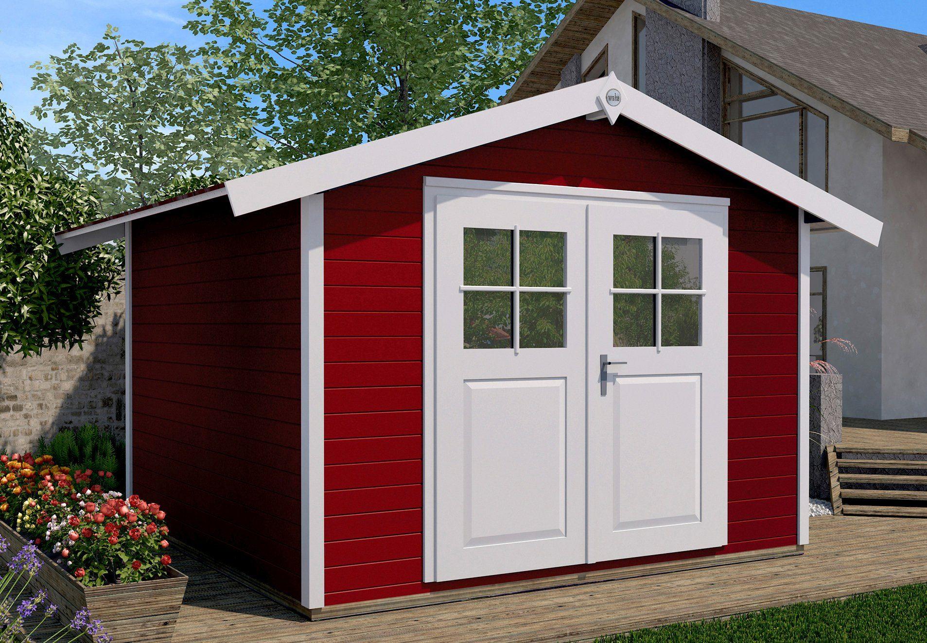 WEKA Gartenhaus »122 DT«, Gesamtmaß BxT: 380x276 cm