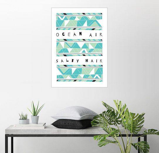 Posterlounge Wandbild - Susan Claire »Ozean Luft und salziges Haar«
