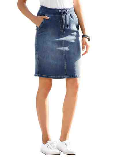 Dress In Jeansrock mit Bindeband