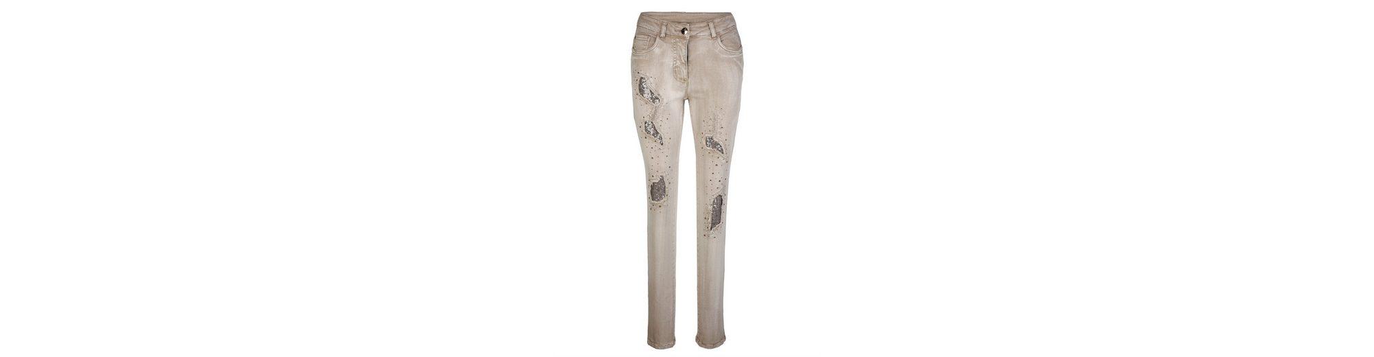 Laura Kent Jeans Laura Slim mit Steinchen- und Pailletten Günstig Kaufen Top-Qualität 0UjrPBh