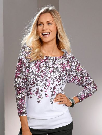 Paola Bat Sweater With Butterfly Print