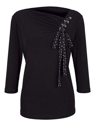 Paola Shirt mit Zopfdetail