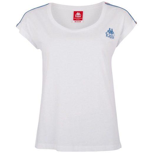 Kappa T-Shirt »AUTHENTIC CHIARA« mit Logoband an den Schultern