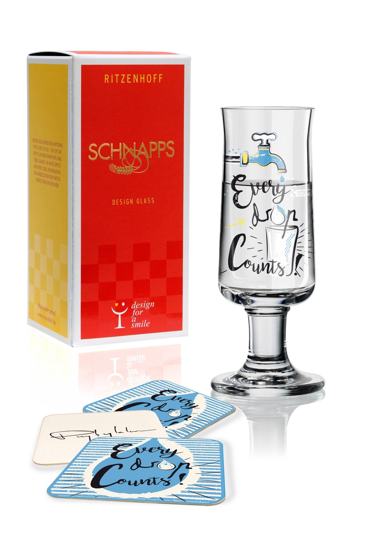 Ritzenhoff Schnapps Schnapsglas D. Przybylska Every drop F18