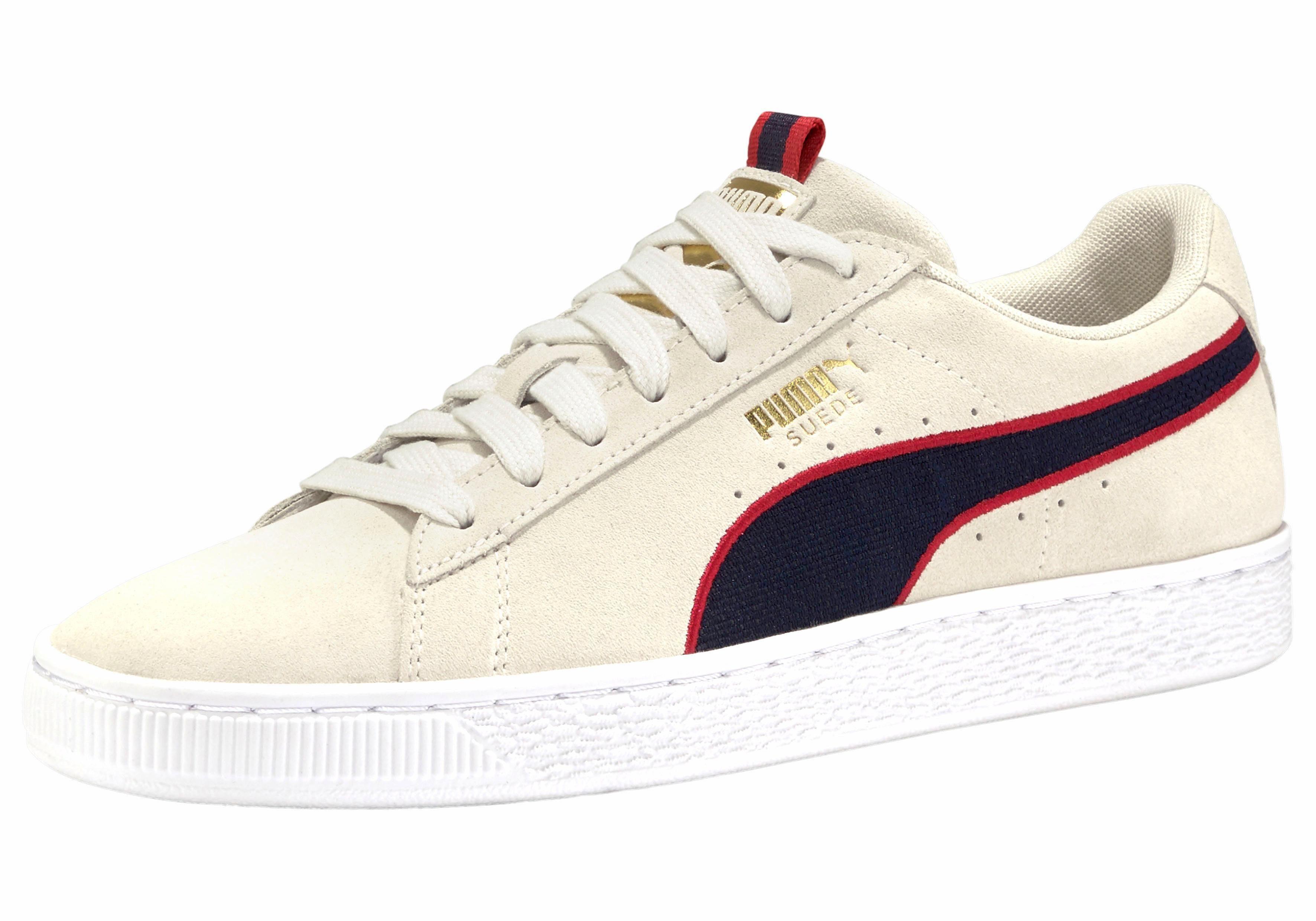 PUMA Suede Classic Sport Sneaker online kaufen  offwhite-dunkelblau-rot