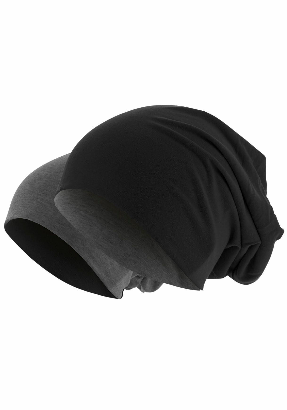 MSTRDS Beanie Jersey Mütze reversible, Oversize