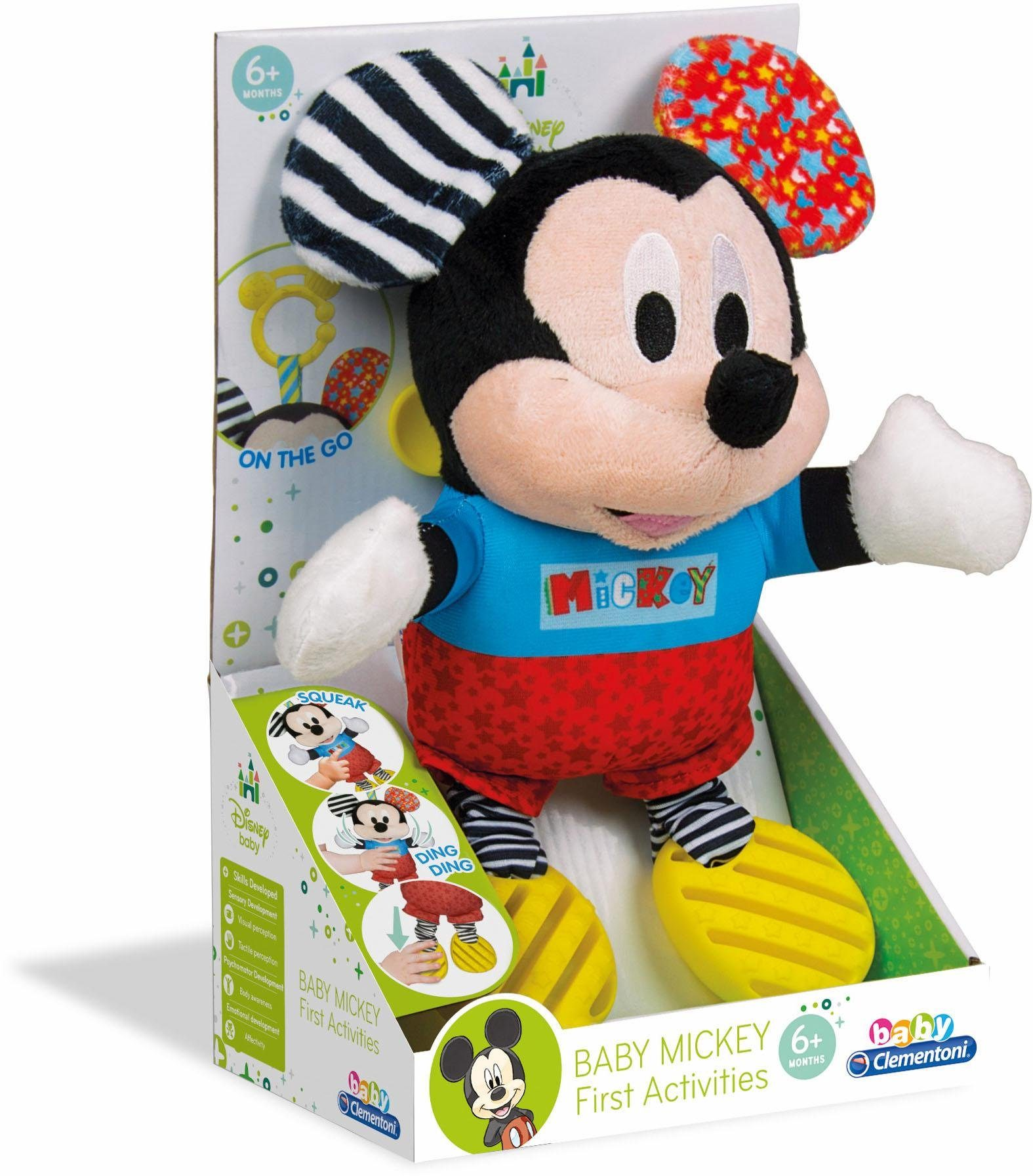 Clementoni Kuscheltier Maus, »Disney Baby, Plüsch Mickey mit Beißring«