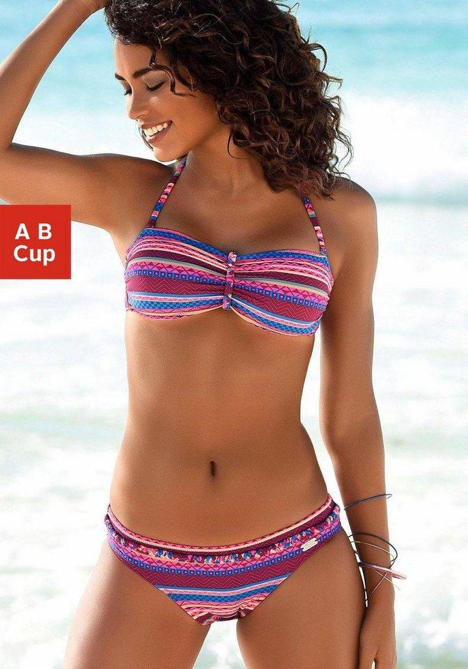 Bademode - Buffalo Bandeau Bikini Top »Lux«, mit Flechtdetail › rosa  - Onlineshop OTTO