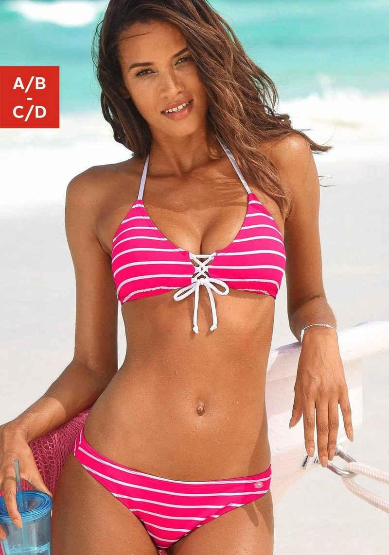 KangaROOS Triangel-Bikini in Streifenoptik