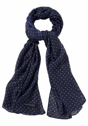 Bruno Banani Modeschal Leichter Schal mit Logo Schriftzug und Punkten