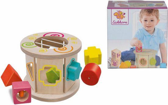 Eichhorn Steckspielzeug »Steckspiel Rolle«, (Set, 7-tlg), mit klingenden Bausteinen