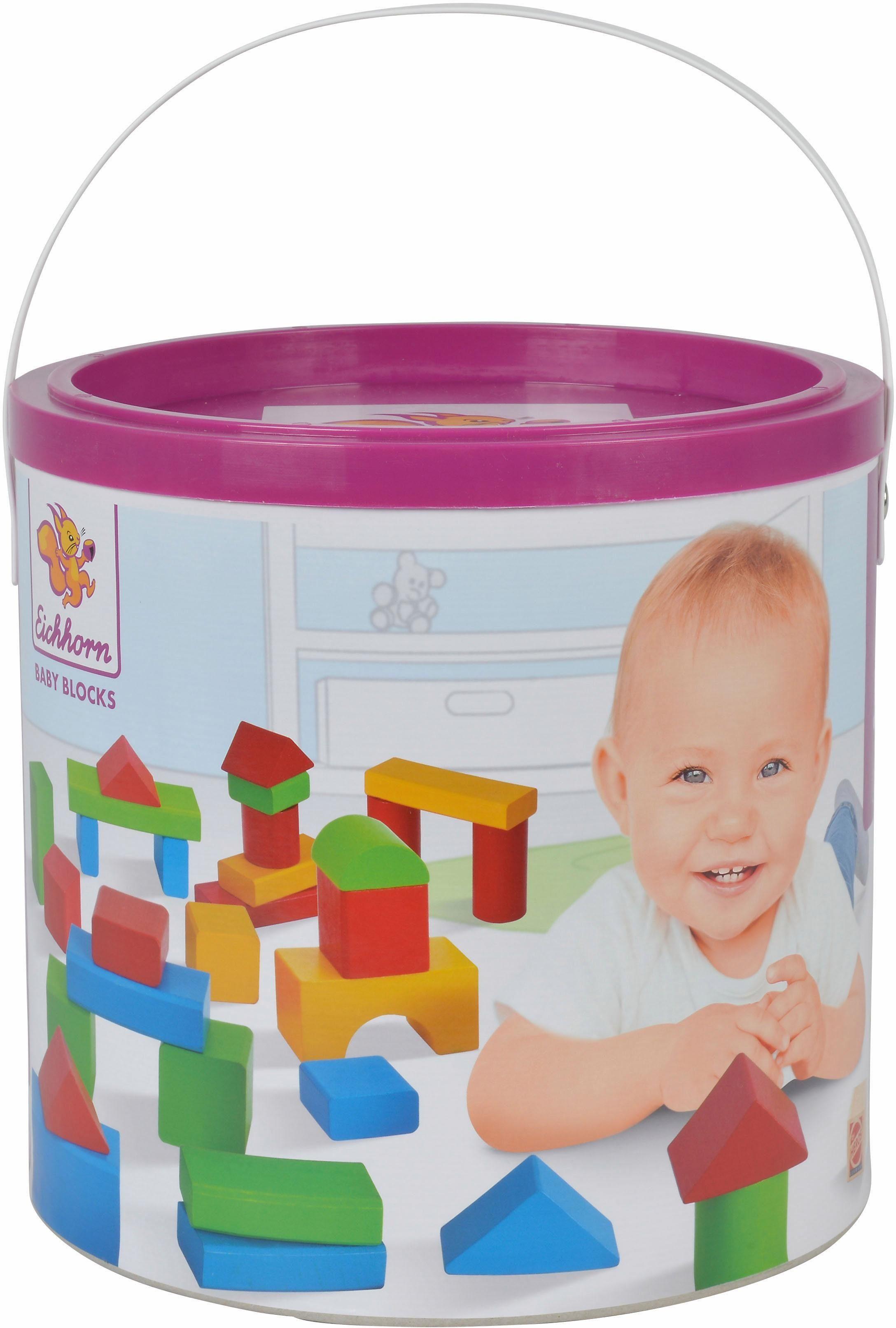 Eichhorn Holz Bausteine, »Baby-Box 50 Teile«