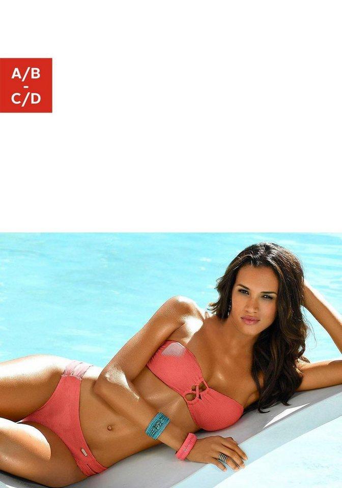 Bademode - Sunseeker Bandeau Bikini Top »Fancy«, mit modischer Zierschnürung › rot  - Onlineshop OTTO