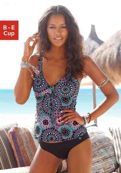 s.Oliver RED LABEL Beachwear Bügel-Tankini im schönen Ethnoprint
