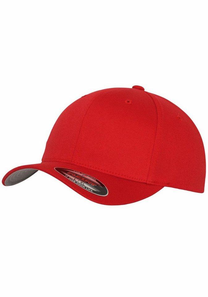 Herren Flexfit Baseball Cap (1-St) im Casual-Style rot  Kopfbedeckungen