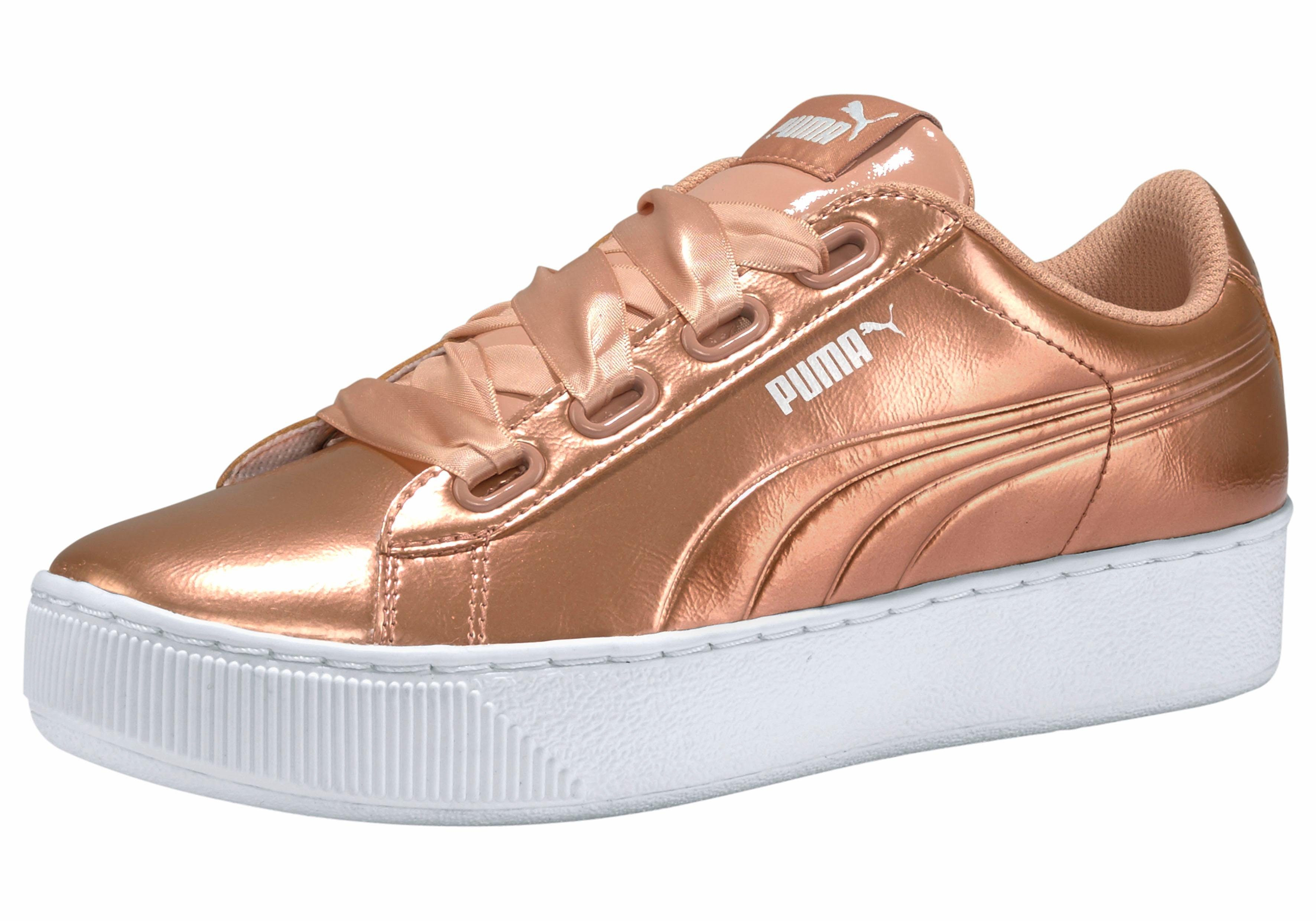 Puma Damen Suede Platform Animal Sneaker, Orange Dusty Coral, 42 EU